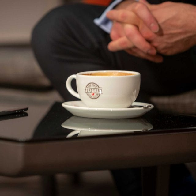 Guest having a coffee at Clayton Hotel City of London