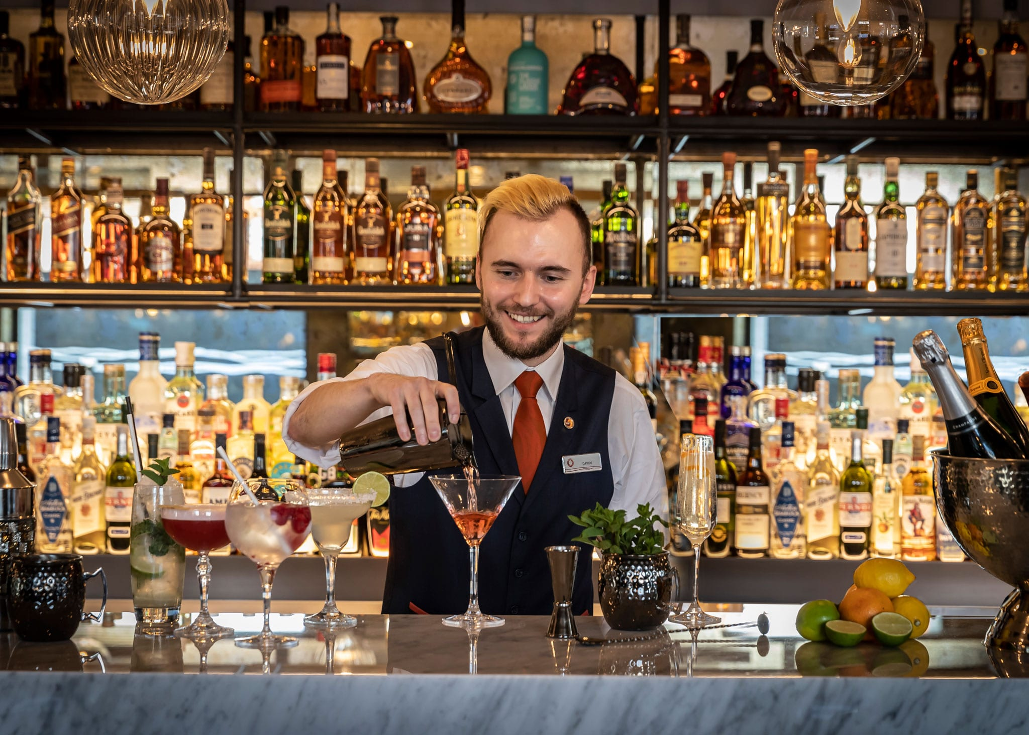 Barman at Clayton hotel